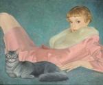 Tatiana Deriy : Lady with theCat