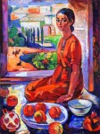 Aman Baga : Girl with the Peaches