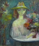 Alexander Sapozhnikov : Lady with the Flowers