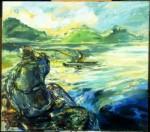 Galina Al'bertovna Bystritskaya : The Fisherman on theLake